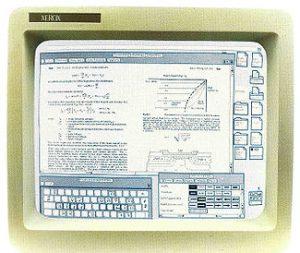 Document composé affiché sur le système de Xerox 8010 Star
